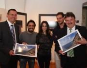 Il sindaco Hofmann con Vito Fusco, Giovanna Parlato, Delfo Palumbo ed il capo del distretto Klaus Peter Soellner